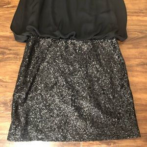 MM Couture Dresses - MM Couture Black Sleeveless Sequin Dress, Large